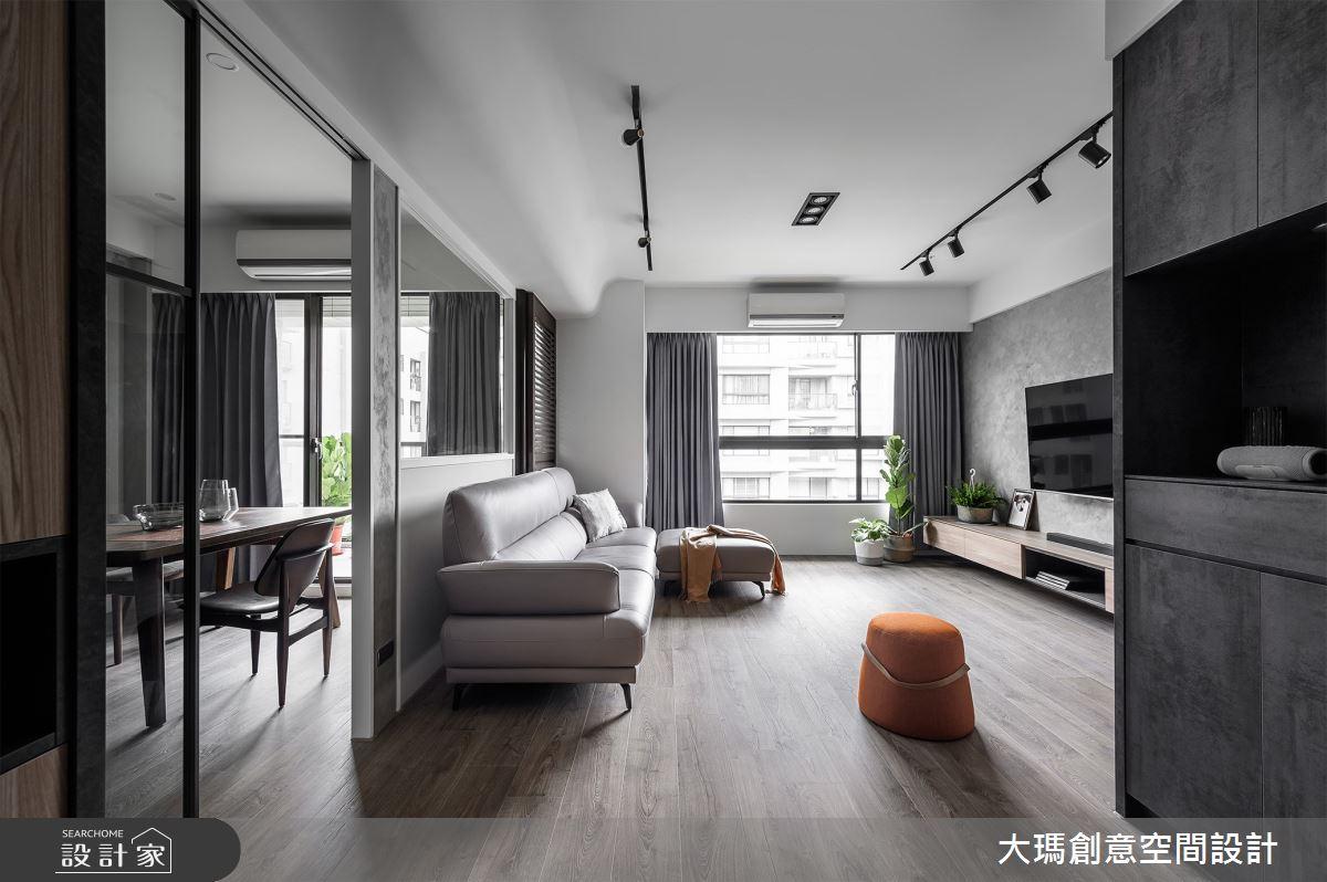 36坪中古屋(5~15年)_現代風客廳案例圖片_大瑪創意空間設計有限公司_大瑪_17之2