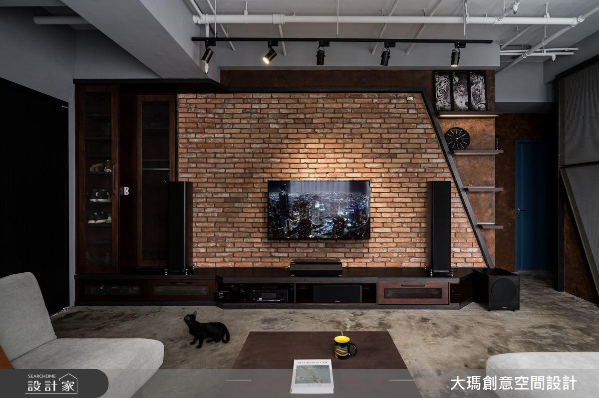 35坪新成屋(5年以下)_工業風客廳案例圖片_大瑪創意空間設計有限公司_大瑪_26之2