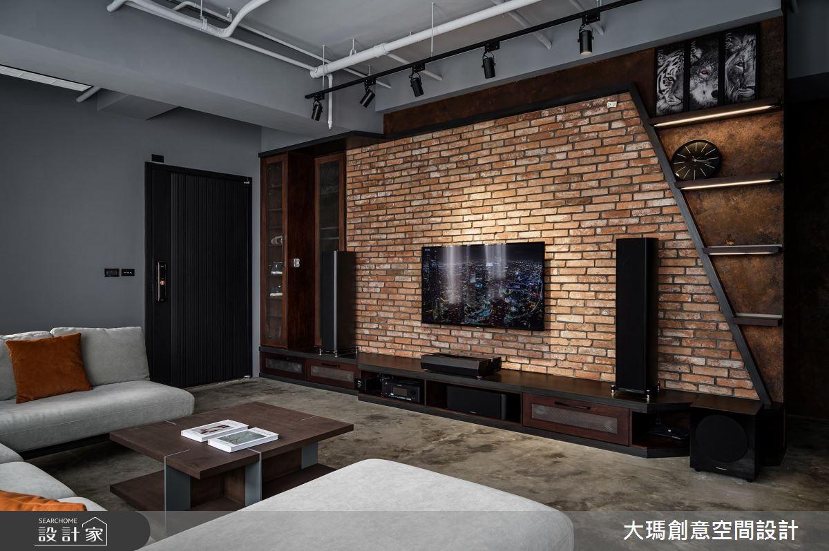 35坪新成屋(5年以下)_工業風客廳案例圖片_大瑪創意空間設計有限公司_大瑪_26之1