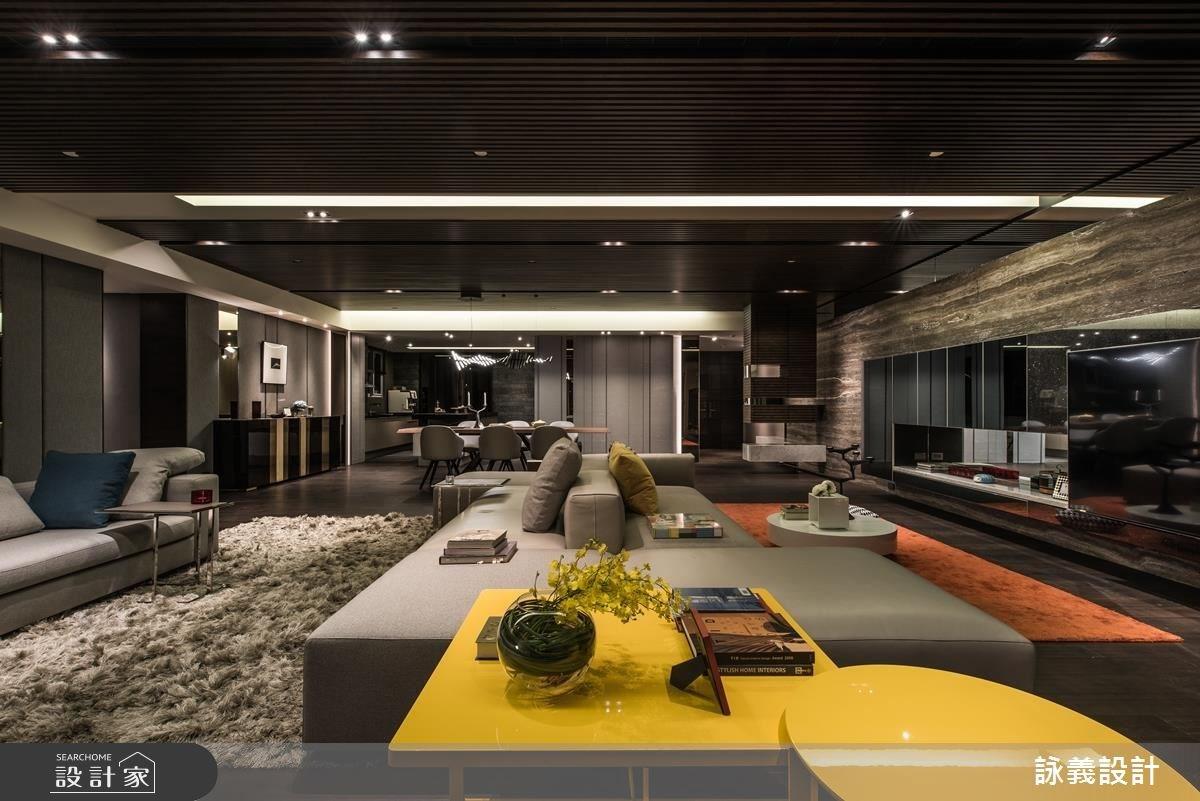 94坪新成屋(5年以下)_現代風客廳案例圖片_詠義設計/劉榮祿國際空間設計_詠義_幾何的深度之4