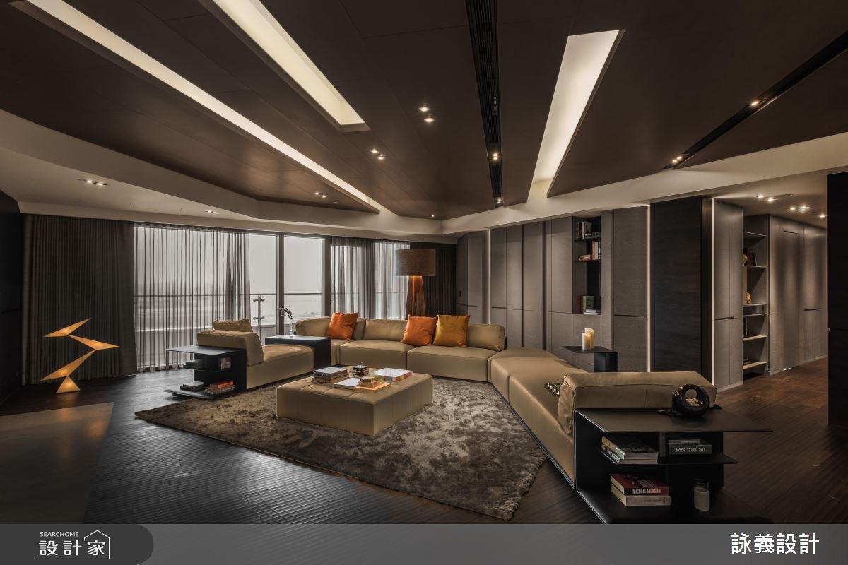 94坪新成屋(5年以下)_現代風客廳案例圖片_詠義設計/劉榮祿國際空間設計_詠義_幾何的淬煉之5