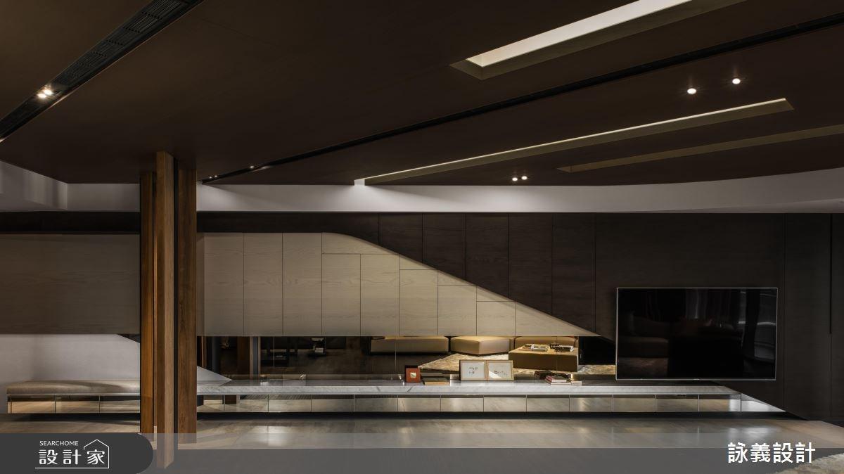 94坪新成屋(5年以下)_現代風客廳案例圖片_詠義設計/劉榮祿國際空間設計_詠義_幾何的淬煉之6