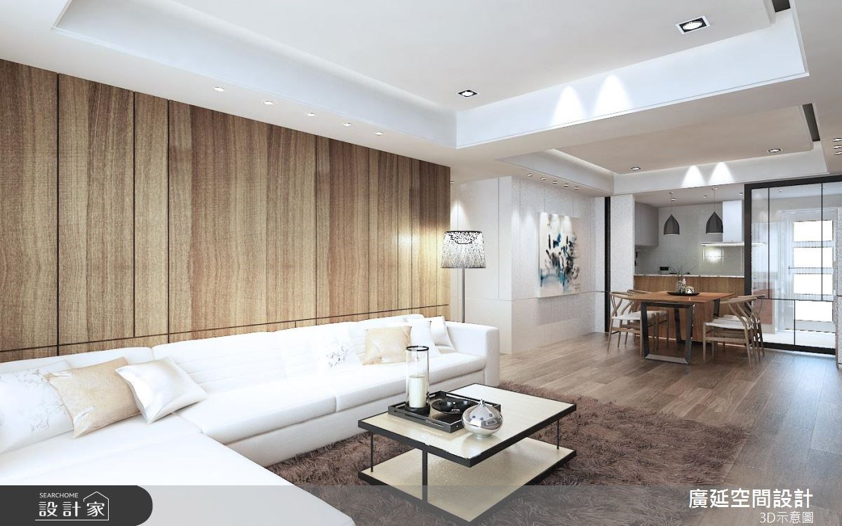 40坪新成屋(5年以下)_北歐風客廳案例圖片_廣延空間設計_廣延_02之1