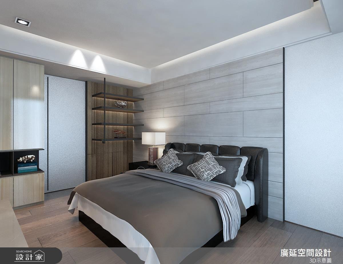 40坪新成屋(5年以下)_北歐風臥室案例圖片_廣延空間設計_廣延_02之3