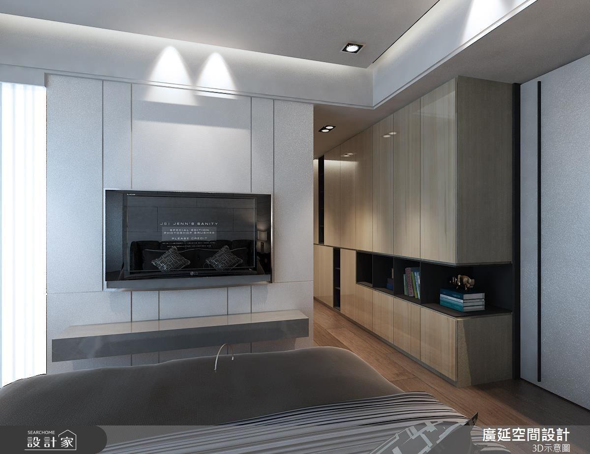 40坪新成屋(5年以下)_北歐風臥室案例圖片_廣延空間設計_廣延_02之4