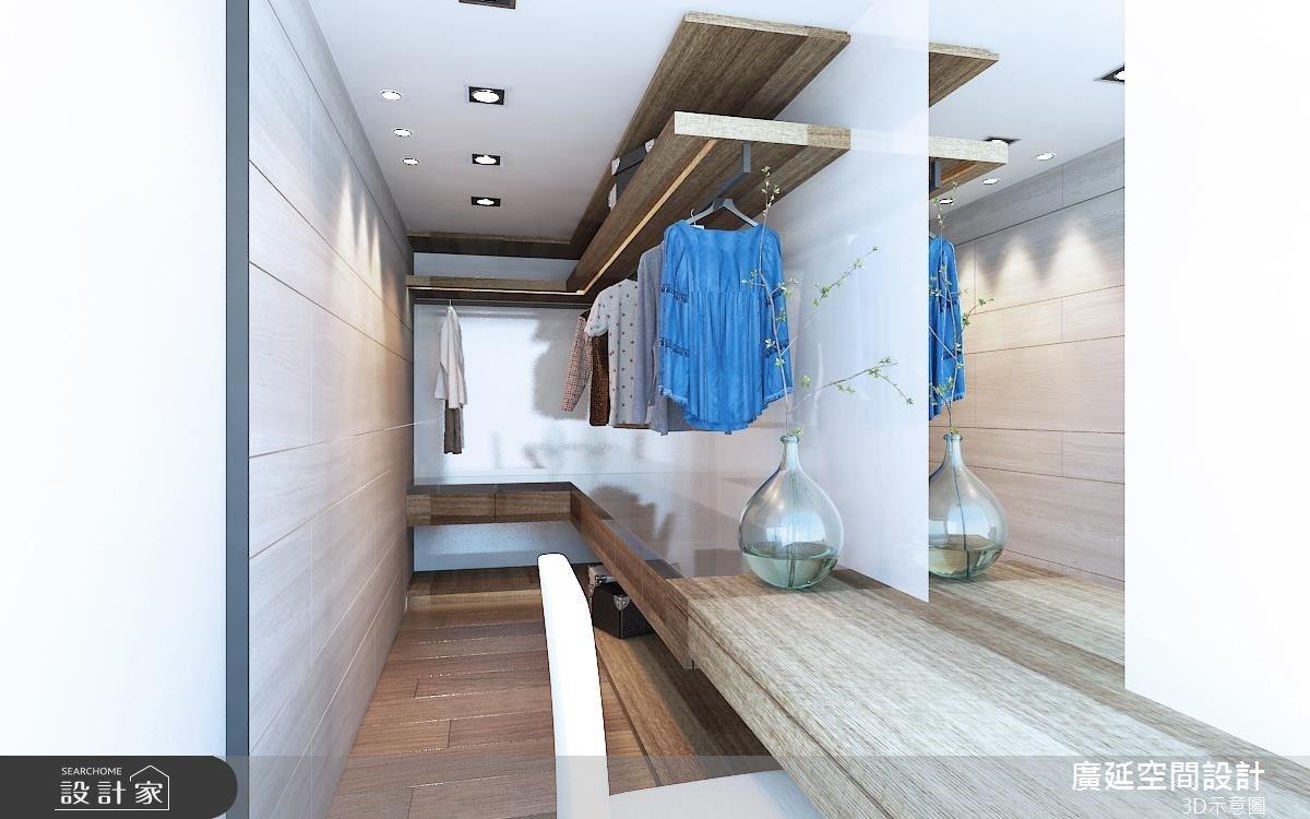 40坪新成屋(5年以下)_北歐風更衣間案例圖片_廣延空間設計_廣延_02之8