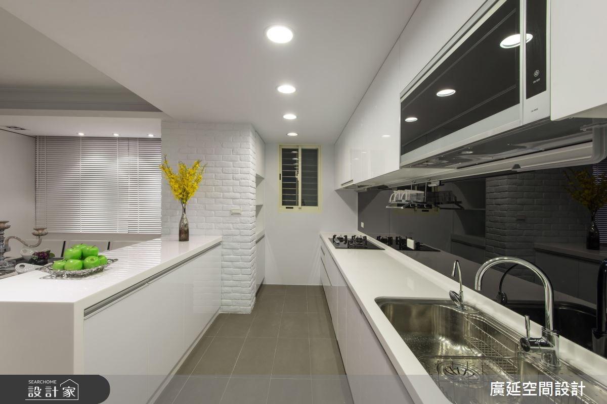 35坪老屋(16~30年)_現代風廚房案例圖片_廣延空間設計_廣延_06之14