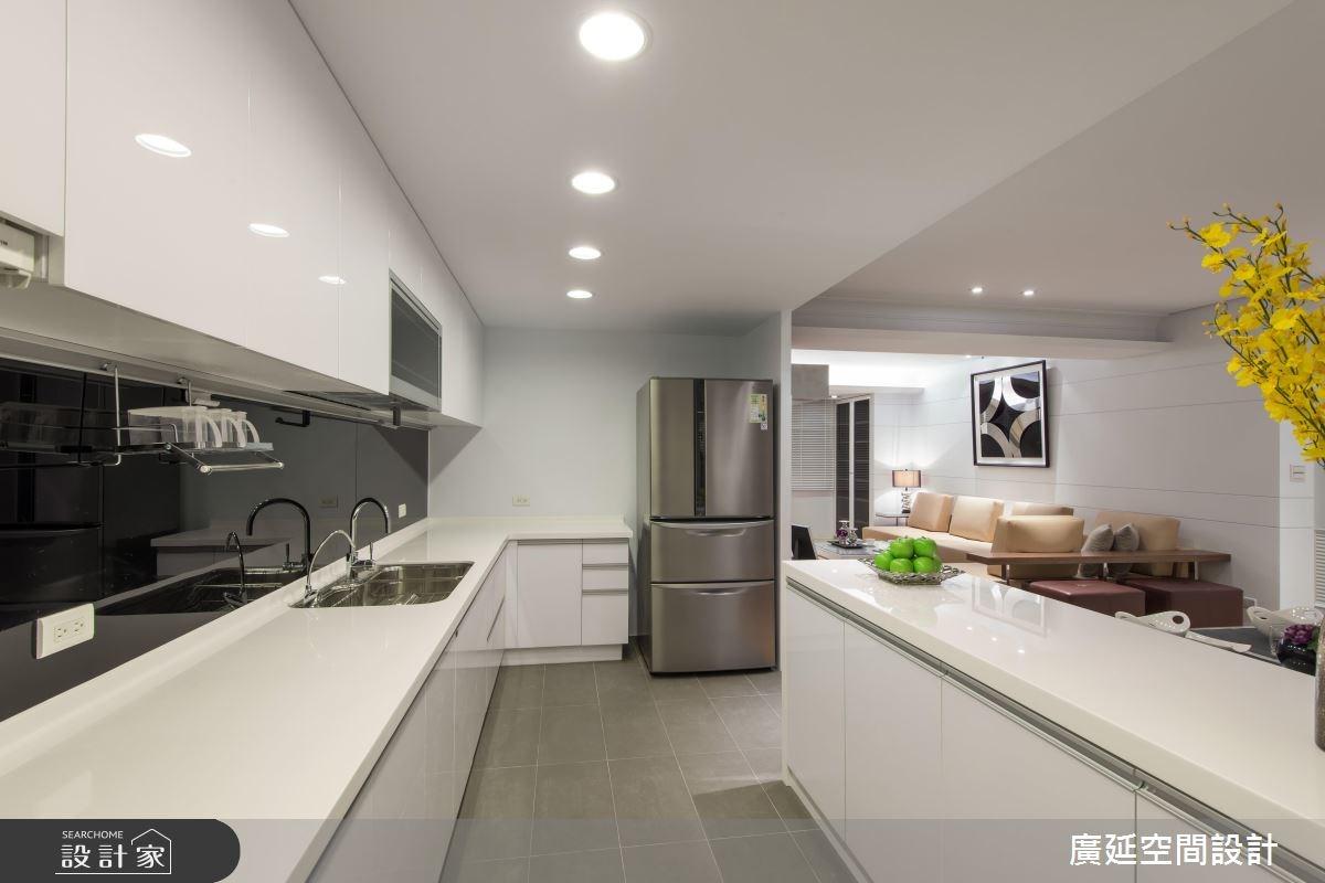 35坪老屋(16~30年)_現代風廚房案例圖片_廣延空間設計_廣延_06之15