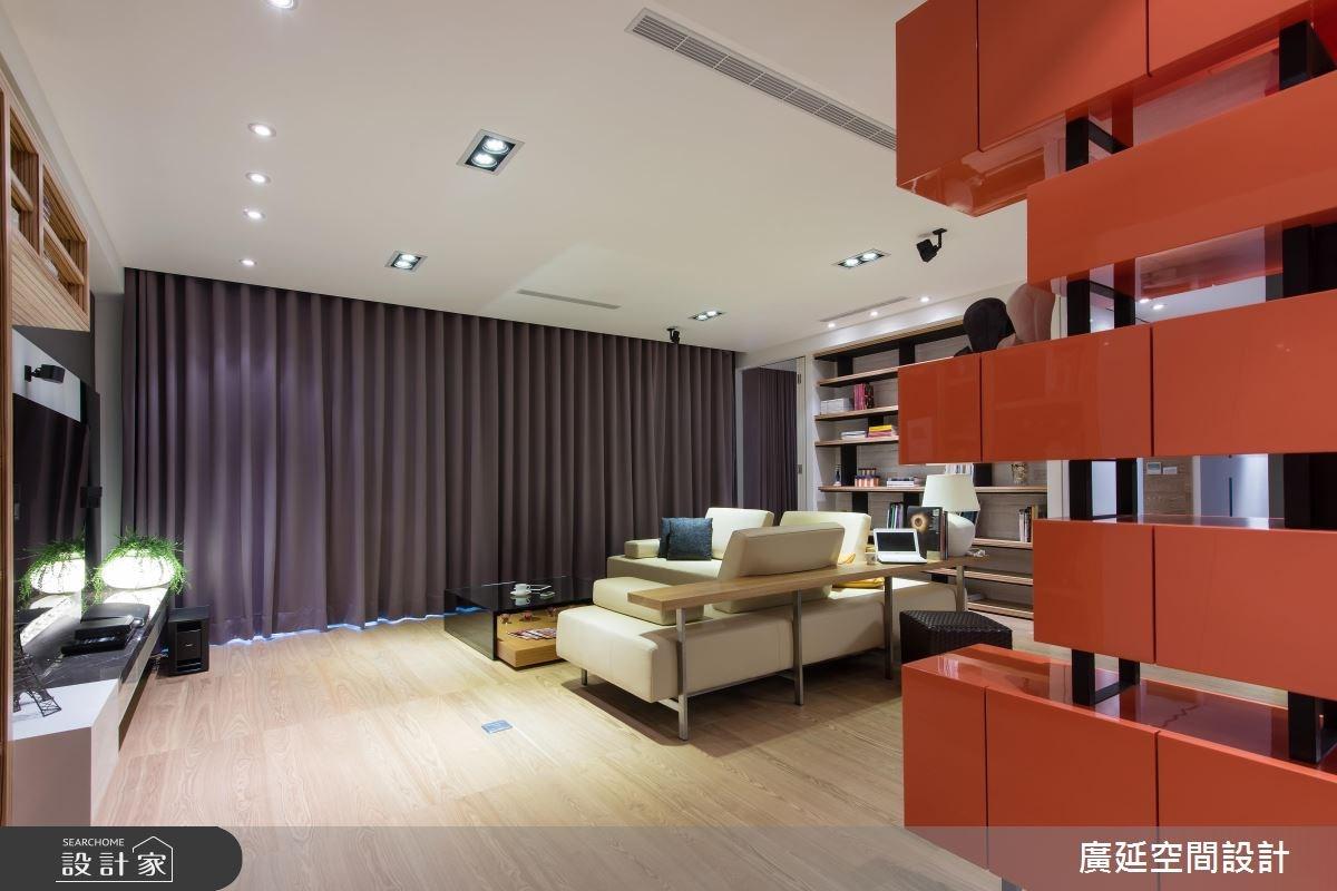 48坪新成屋(5年以下)_現代風客廳案例圖片_廣延空間設計_廣延_07之1