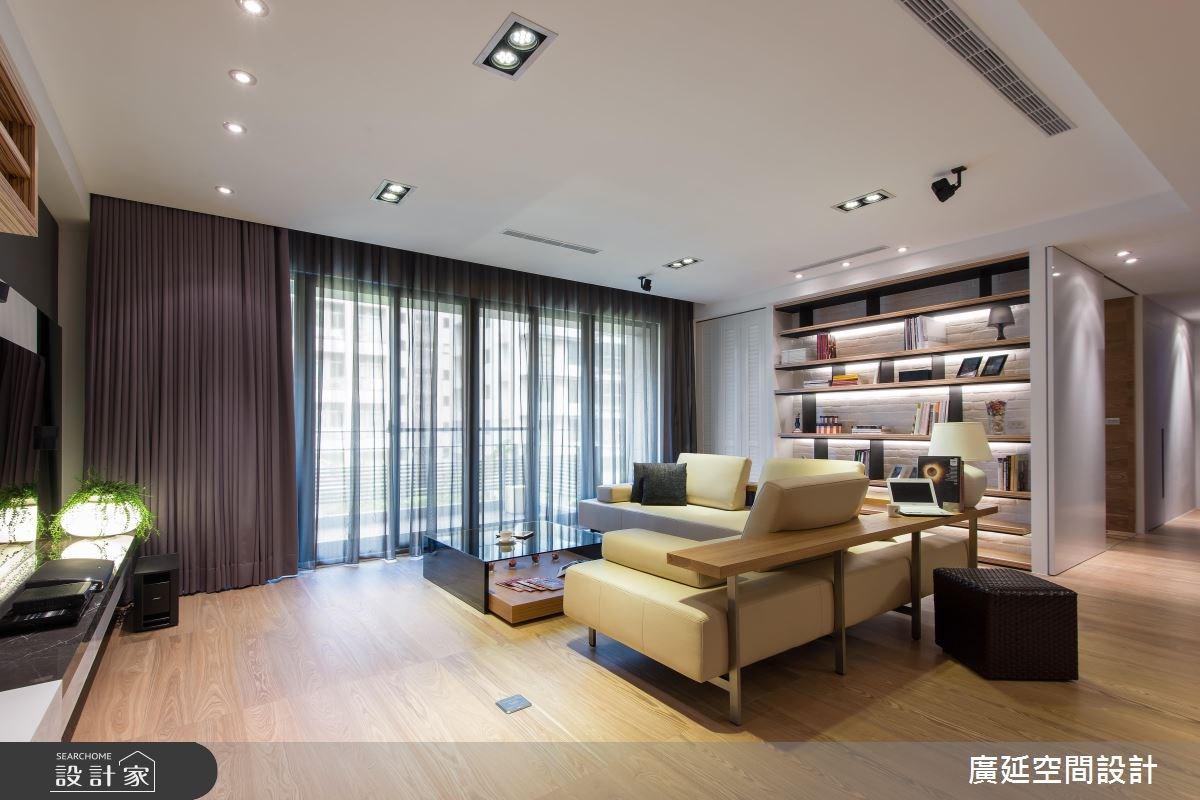 48坪新成屋(5年以下)_現代風客廳案例圖片_廣延空間設計_廣延_07之4