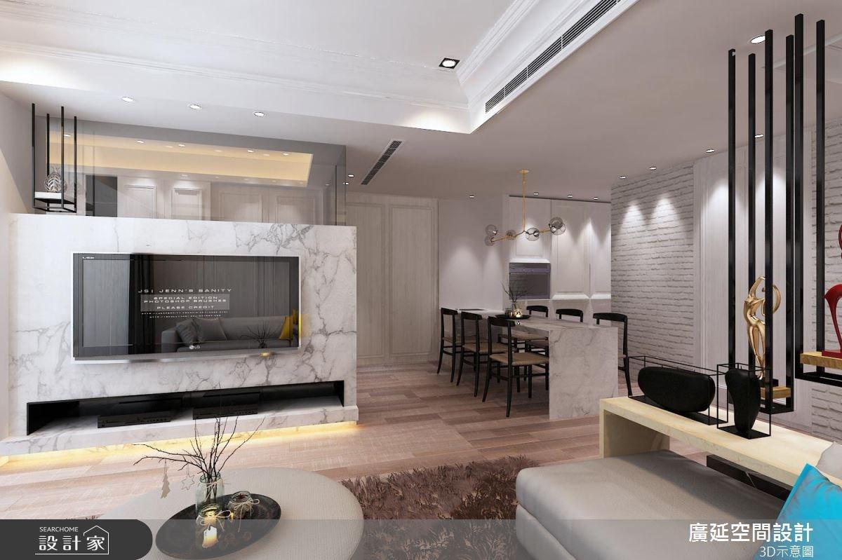 26坪預售屋_新古典客廳案例圖片_廣延空間設計_廣延_10之3