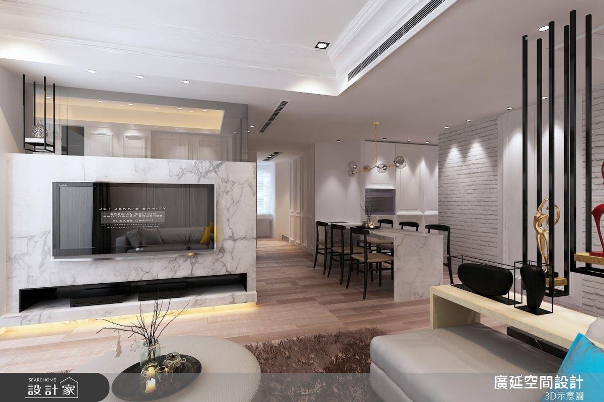 26坪預售屋_新古典客廳案例圖片_廣延空間設計_廣延_10之4