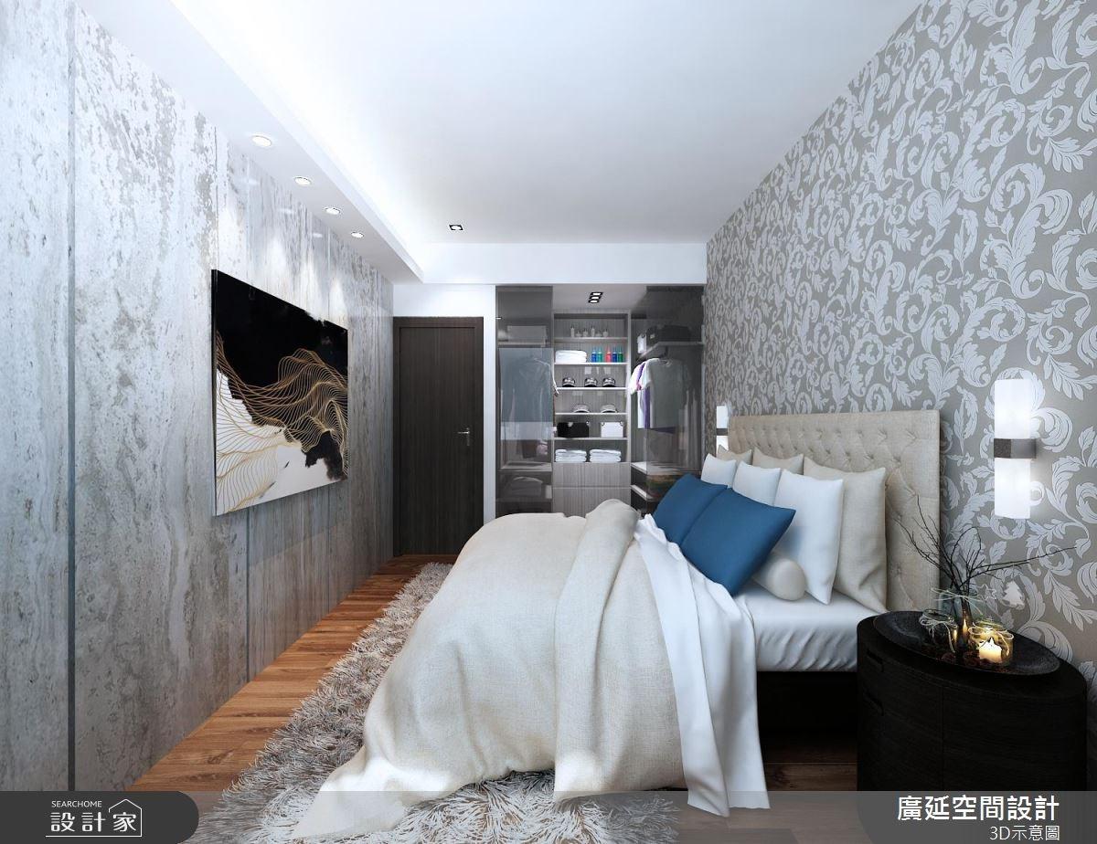 35坪老屋(16~30年)_現代風臥室案例圖片_廣延空間設計_廣延_15之3
