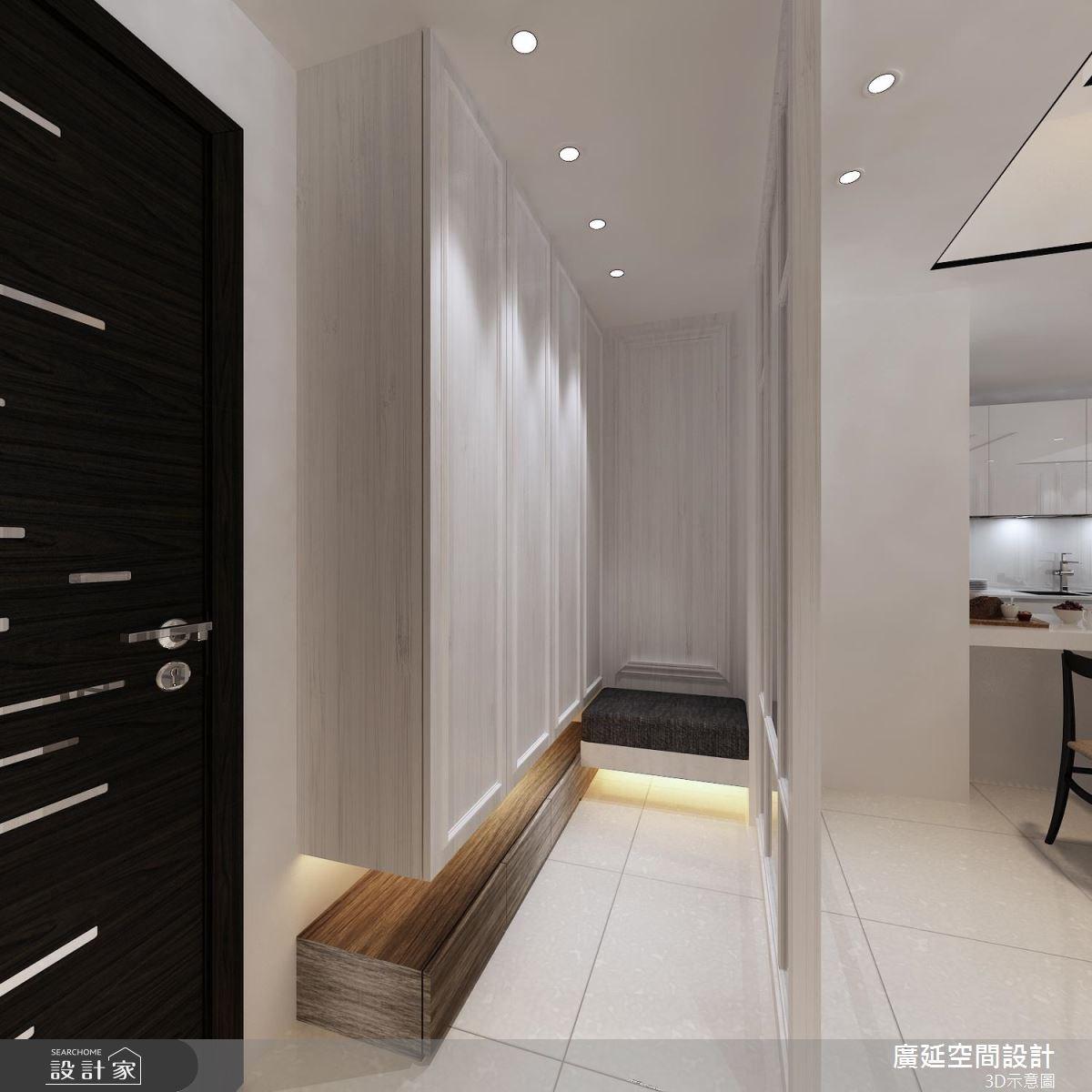 45坪新成屋(5年以下)_新古典玄關案例圖片_廣延空間設計_廣延_16之1