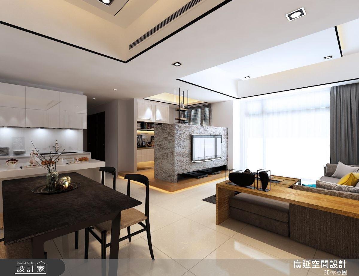 45坪新成屋(5年以下)_新古典餐廳案例圖片_廣延空間設計_廣延_16之2
