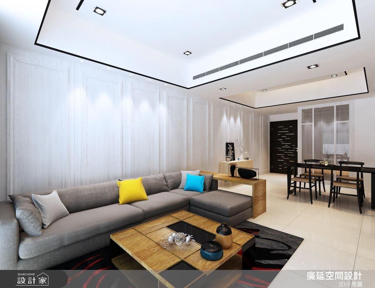 45坪新成屋(5年以下)_新古典客廳案例圖片_廣延空間設計_廣延_16之3
