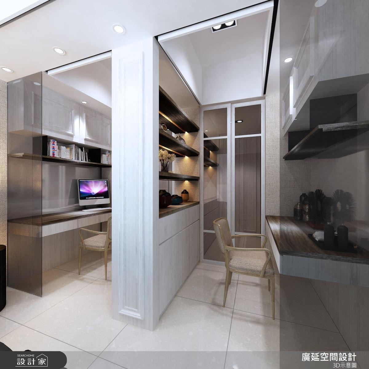 45坪新成屋(5年以下)_新古典書房案例圖片_廣延空間設計_廣延_16之6