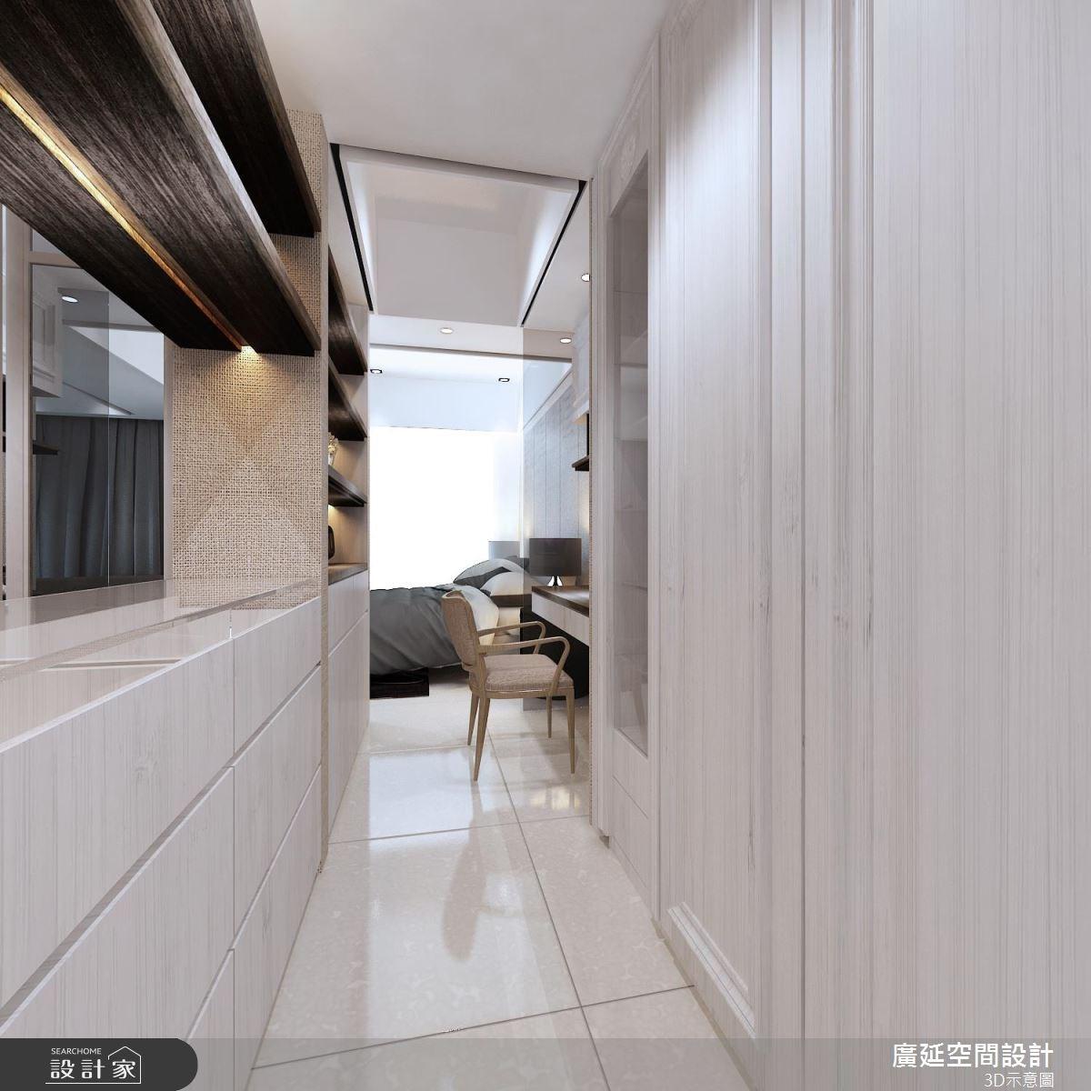 45坪新成屋(5年以下)_新古典走廊案例圖片_廣延空間設計_廣延_16之7