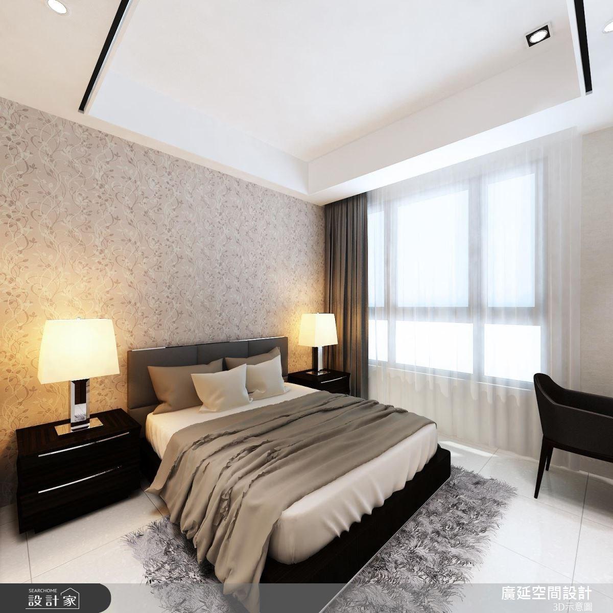 45坪新成屋(5年以下)_新古典臥室案例圖片_廣延空間設計_廣延_16之10