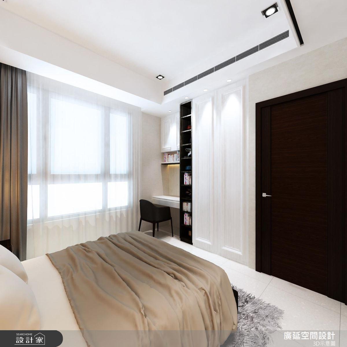 45坪新成屋(5年以下)_新古典臥室案例圖片_廣延空間設計_廣延_16之11