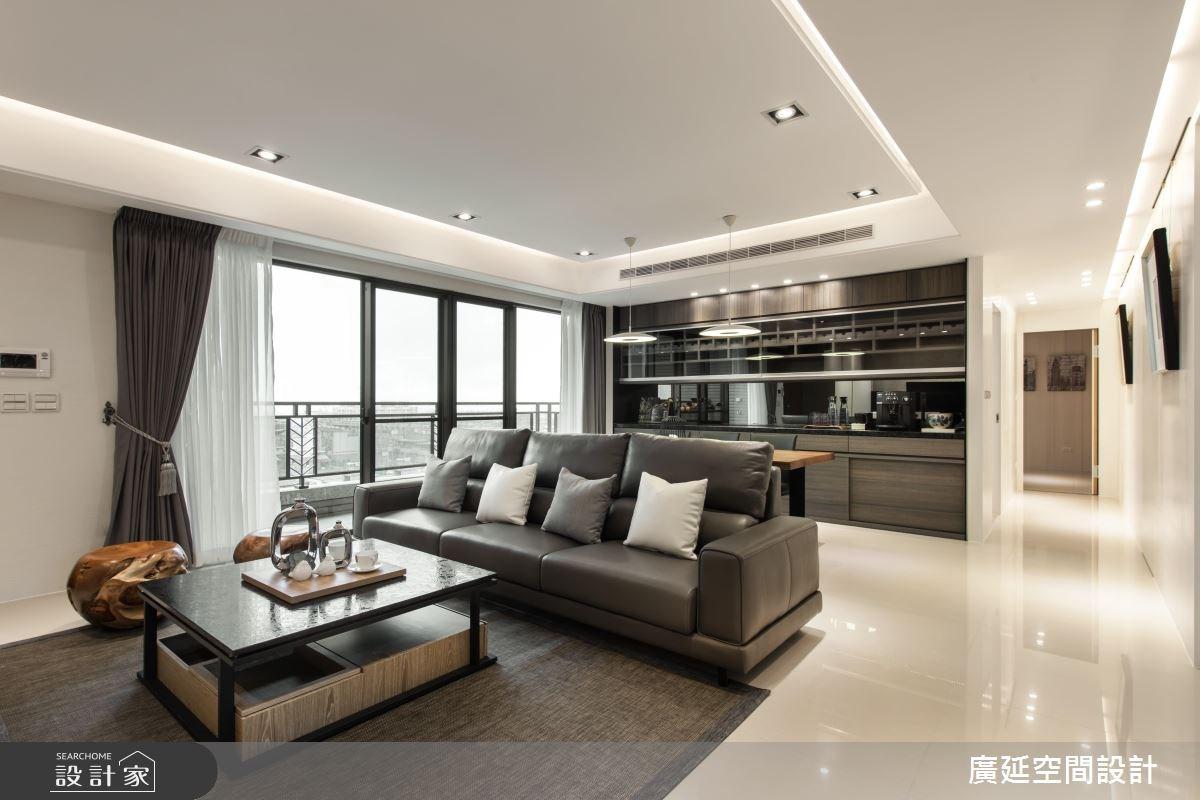 35坪新成屋(5年以下)_現代風客廳案例圖片_廣延空間設計_廣延_23之1