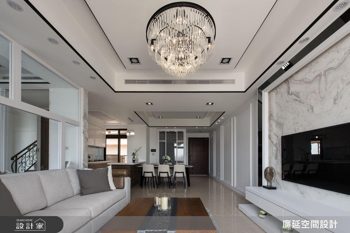 45坪新成屋(5年以下)_新古典客廳案例圖片_廣延空間設計_廣延_24之4
