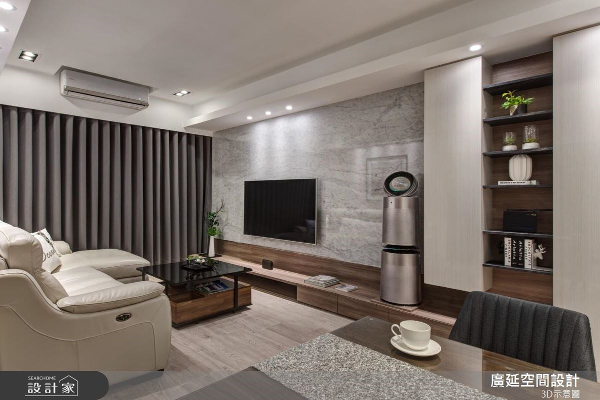 28坪新成屋(5年以下)_現代風客廳案例圖片_廣延空間設計_廣延_26之5
