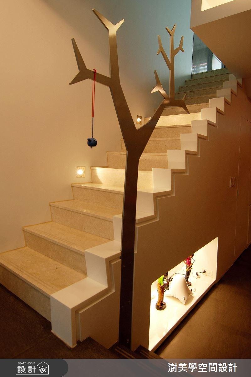 85坪新成屋(5年以下)_現代風樓梯案例圖片_澍美學室內裝修設計有限公司_澍美學_08之2