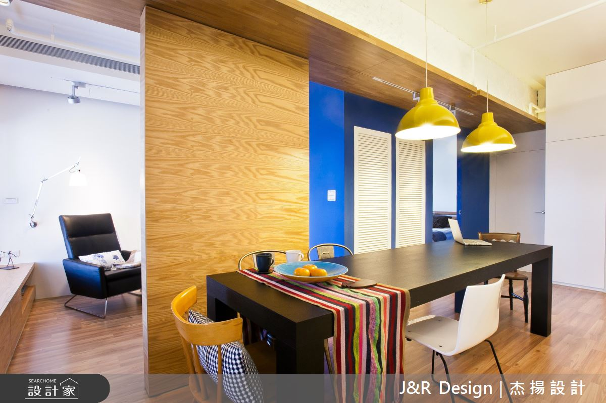 在家工作、朋友聚會一次滿足!為你打造 17 坪藍色假期單身宅