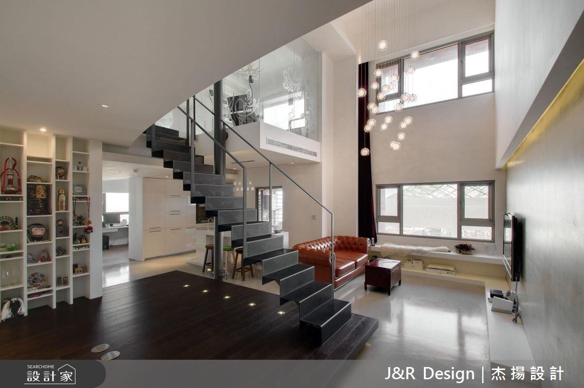 45坪預售屋_現代風客廳樓梯案例圖片_杰揚設計有限公司_杰揚_02之1