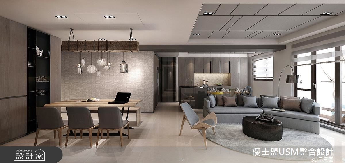 38坪新成屋(5年以下)_現代風客廳餐廳案例圖片_優士盟整合設計有限公司_優士盟_07之1