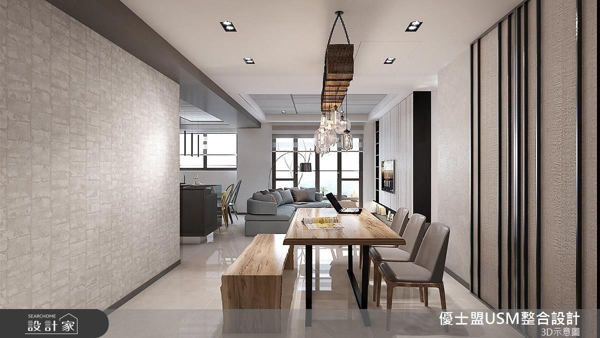 38坪新成屋(5年以下)_現代風客廳餐廳案例圖片_優士盟整合設計有限公司_優士盟_07之4