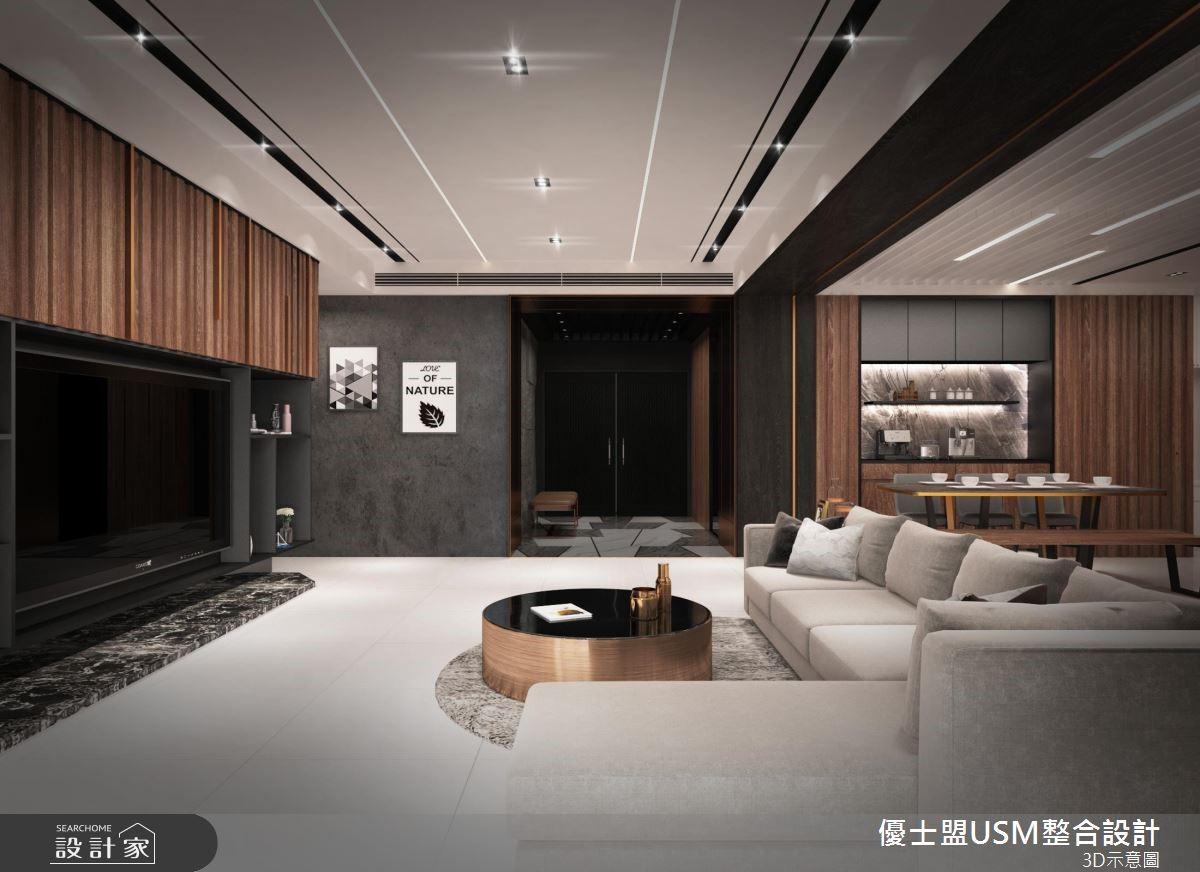 40坪新成屋(5年以下)_混搭風客廳案例圖片_優士盟整合設計有限公司_優士盟_21之4