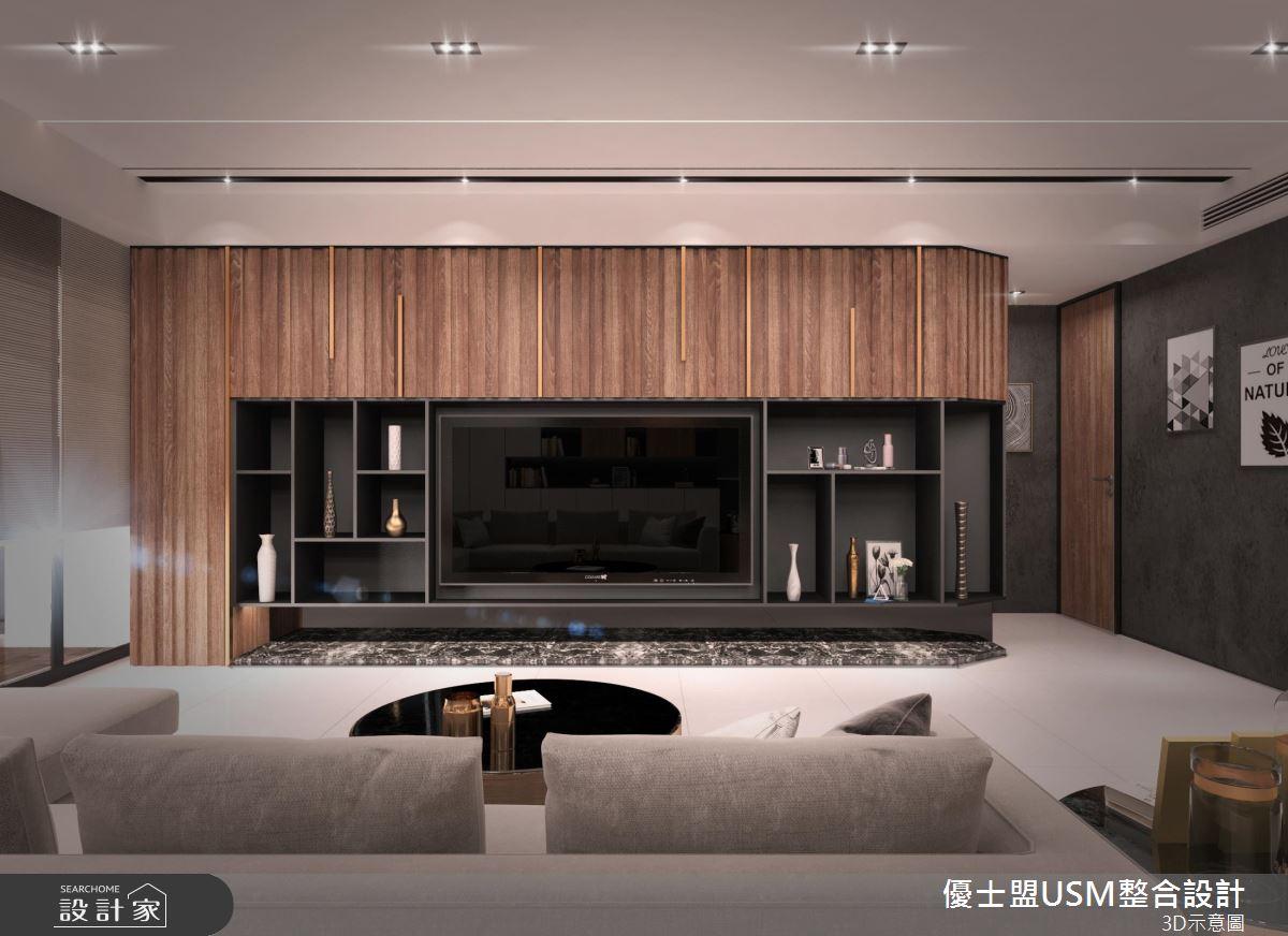 40 坪的 4 口之家,設計師依循屋主一家的需求,於居家