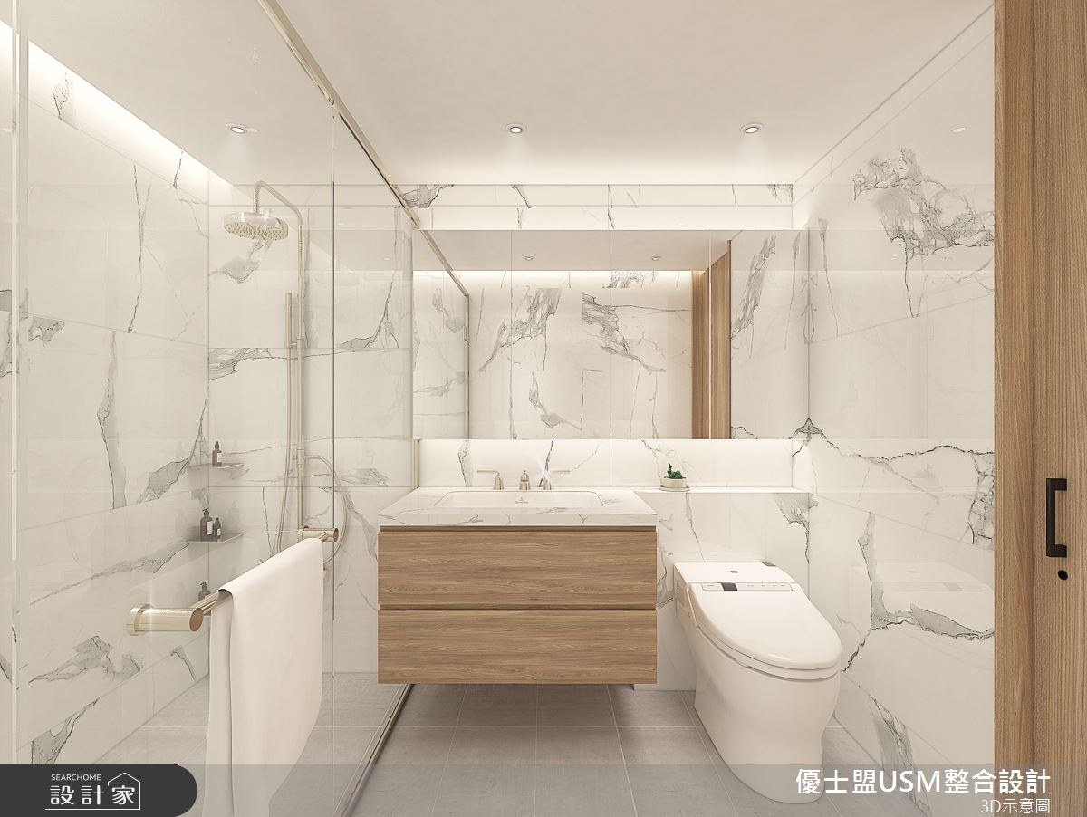 23坪中古屋(5~15年)_現代風浴室案例圖片_優士盟整合設計有限公司_優士盟_27之127