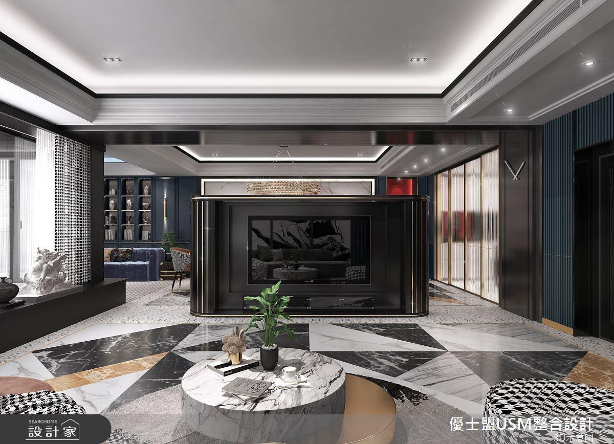 90坪新成屋(5年以下)_奢華風客廳案例圖片_優士盟整合設計有限公司_優士盟_29之4