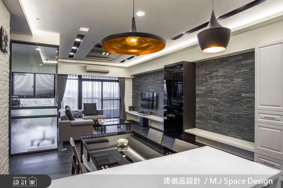 40坪新成屋(5年以下)_現代風客廳餐廳案例圖片_唐御品空間規劃設計公司_唐御品_02之3