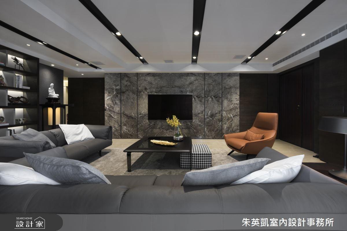 45坪_現代風客廳案例圖片_朱英凱室內設計事務所_朱英凱_02之2