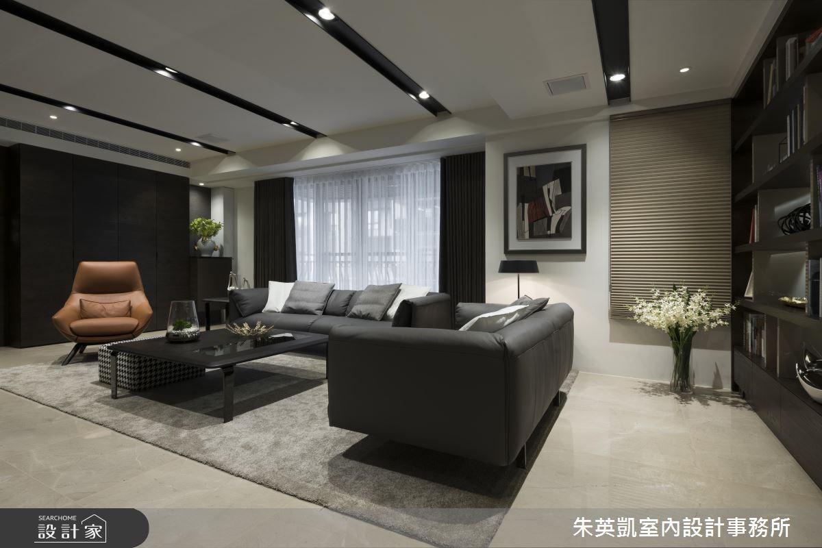 45坪_現代風客廳案例圖片_朱英凱室內設計事務所_朱英凱_02之4