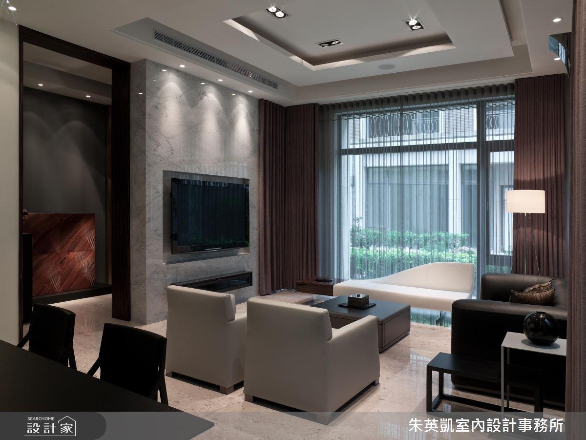 150坪新成屋(5年以下)_現代風客廳案例圖片_朱英凱室內設計事務所_朱英凱_04之2