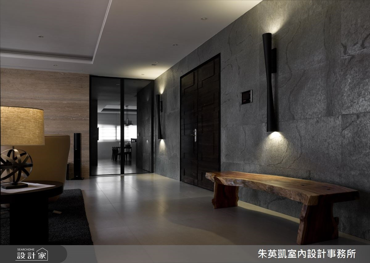 100坪新成屋(5年以下)_現代風玄關案例圖片_朱英凱室內設計事務所_朱英凱_05之1