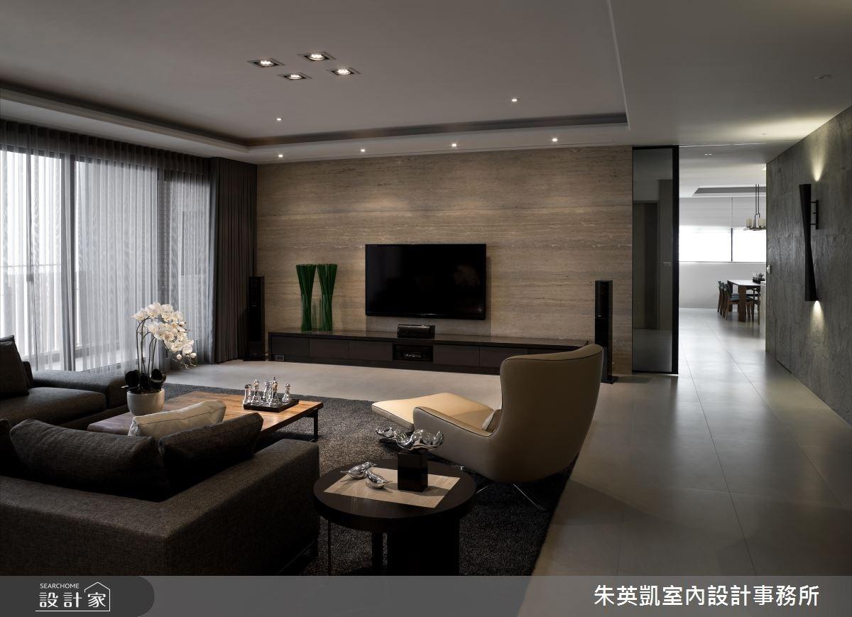 100坪新成屋(5年以下)_現代風客廳案例圖片_朱英凱室內設計事務所_朱英凱_05之2