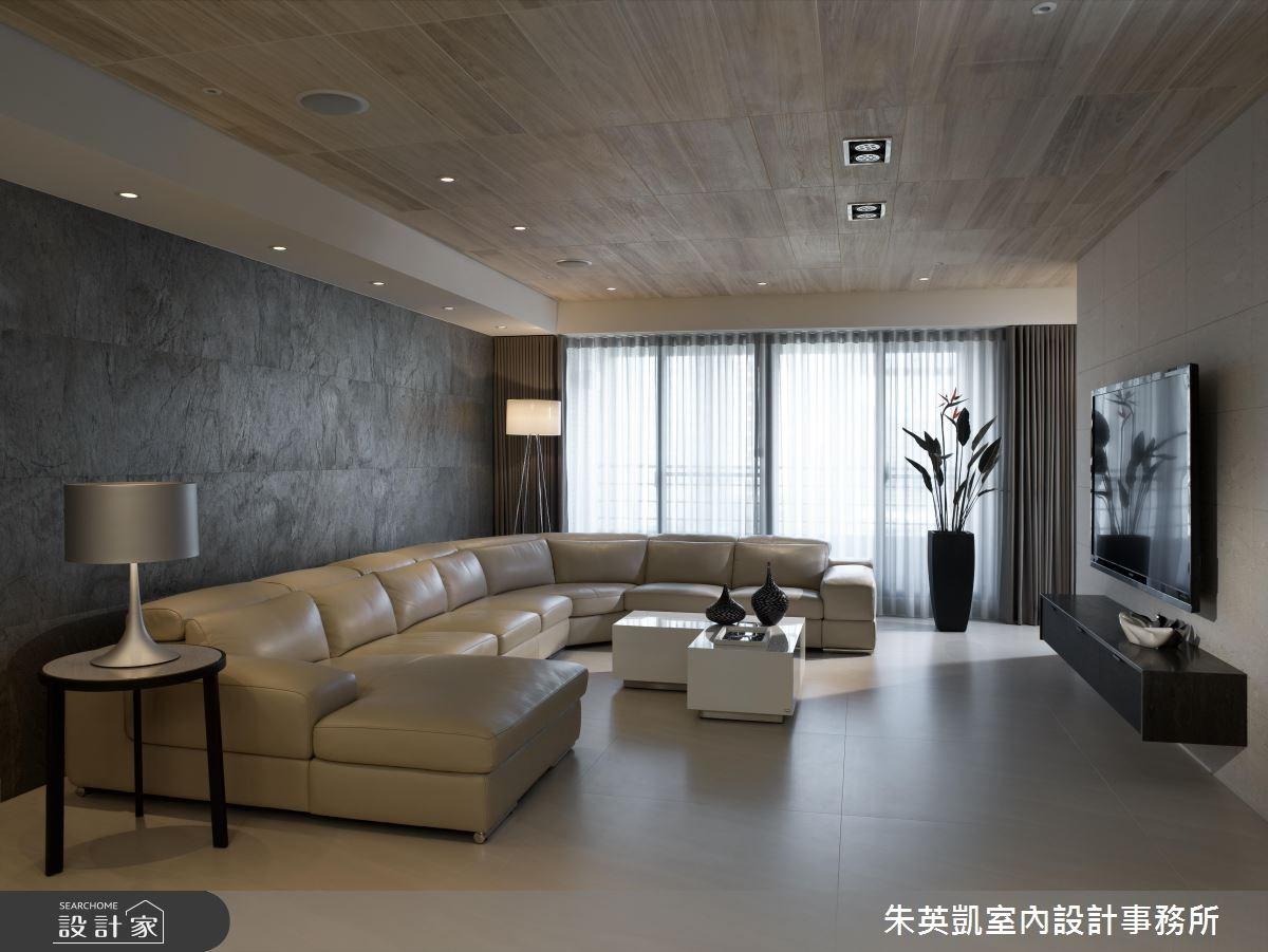 50坪_現代風客廳案例圖片_朱英凱室內設計事務所_朱英凱_06之2