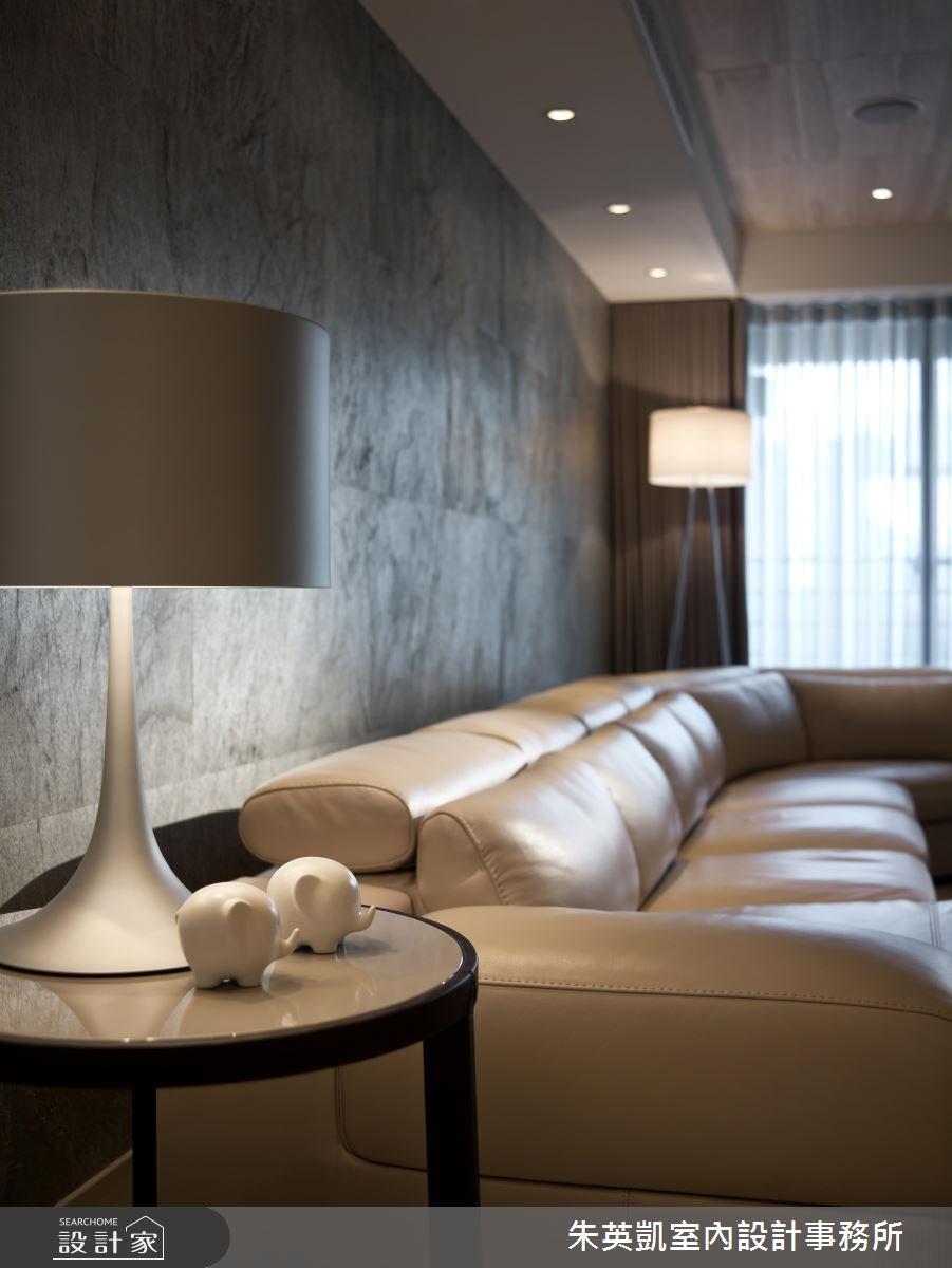 50坪_現代風客廳案例圖片_朱英凱室內設計事務所_朱英凱_06之3
