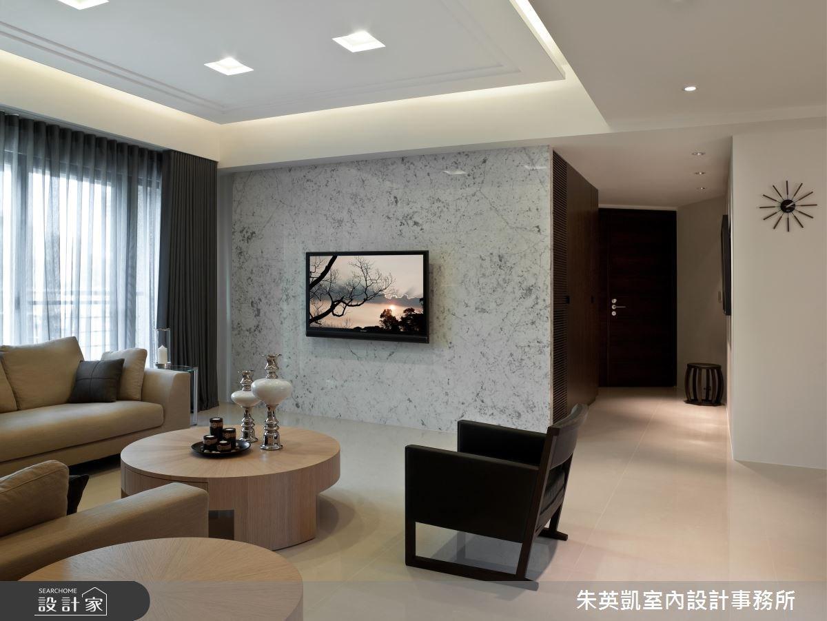 40坪新成屋(5年以下)_休閒風玄關客廳案例圖片_朱英凱室內設計事務所_朱英凱_07之2