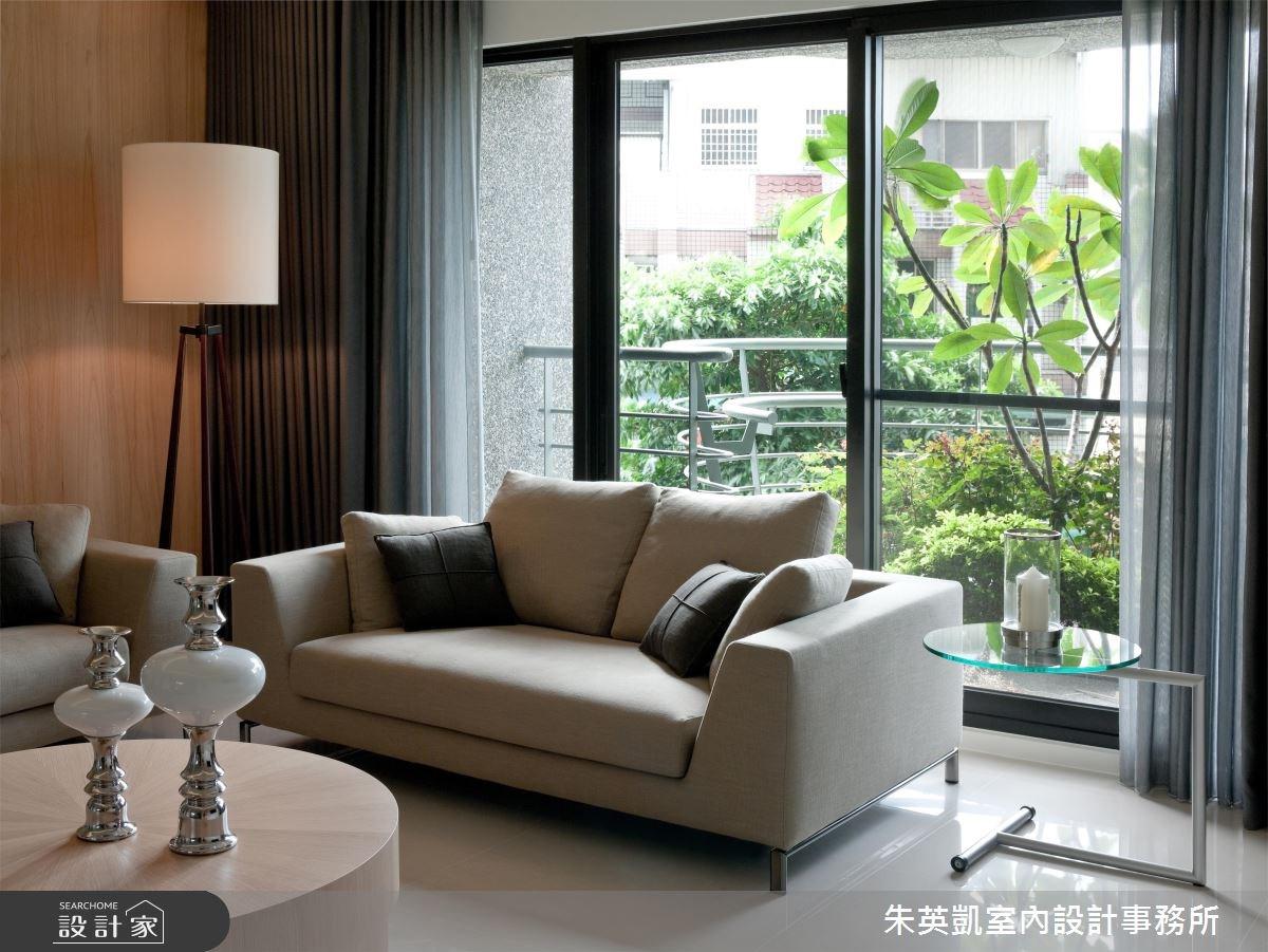 40坪新成屋(5年以下)_休閒風客廳案例圖片_朱英凱室內設計事務所_朱英凱_07之4