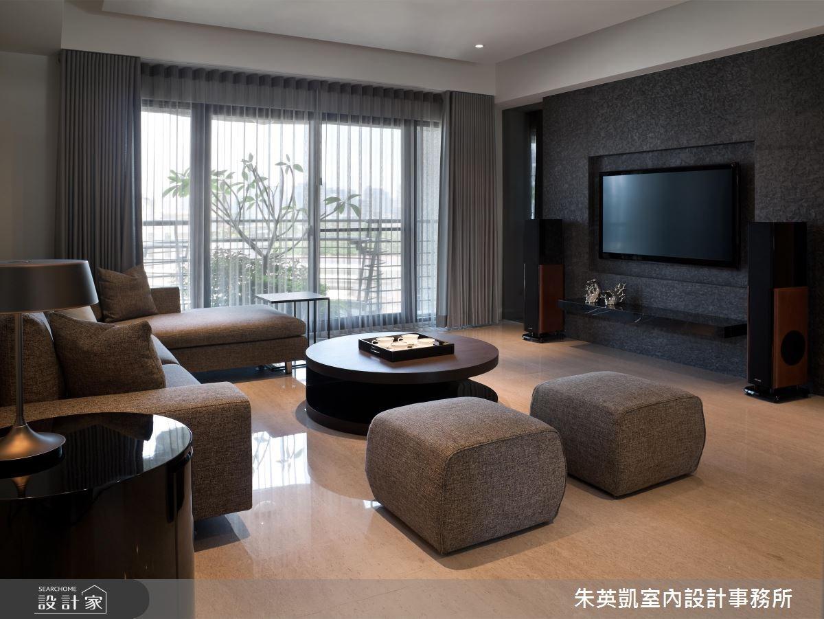 40坪新成屋(5年以下)_現代風客廳案例圖片_朱英凱室內設計事務所_朱英凱_09之2