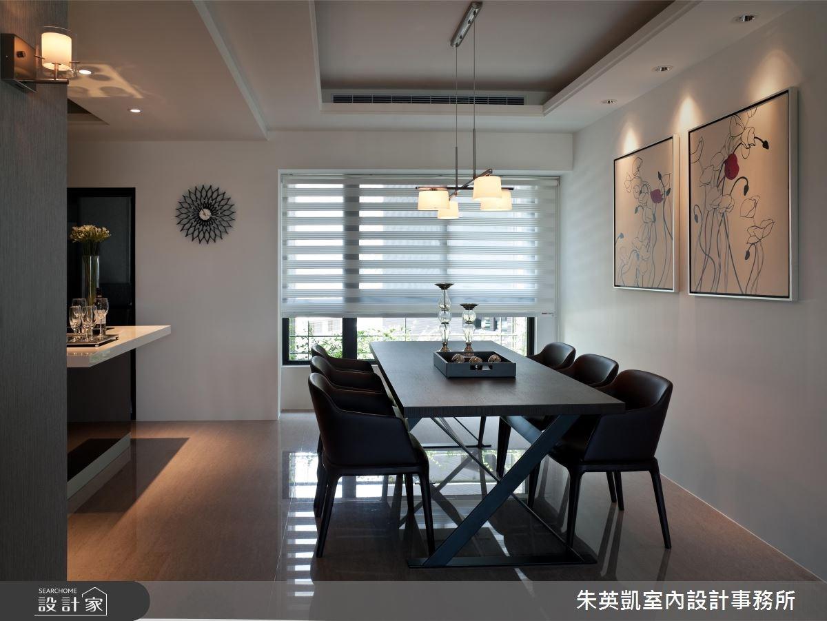 40坪新成屋(5年以下)_現代風餐廳案例圖片_朱英凱室內設計事務所_朱英凱_09之3
