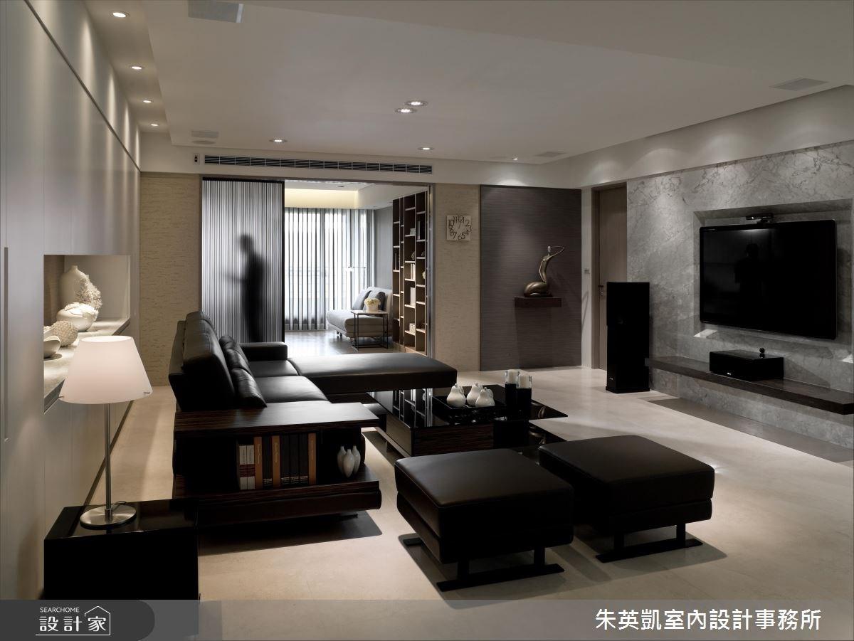50坪_現代風客廳案例圖片_朱英凱室內設計事務所_朱英凱_10之2
