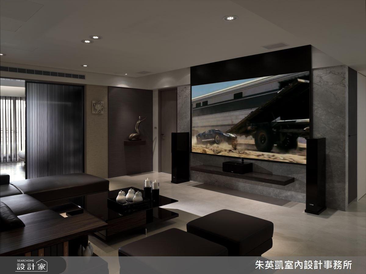 50坪_現代風客廳案例圖片_朱英凱室內設計事務所_朱英凱_10之3